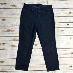 Ann Taylor Curvy dark wash cropped jeans